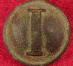 Confederate Lined Infantry Coat Button