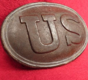 US Belt Buckle with Partial Belt Leather