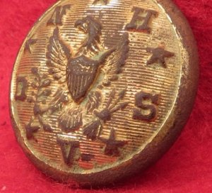National Home Disabled Solders & Veterans Coat Button - Post War