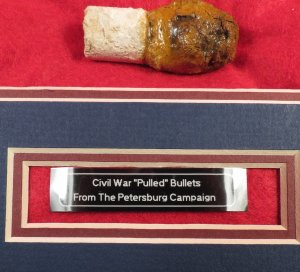 """Pulled"" Bullet Relic Display - Petersburg, VA"