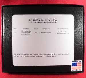 US Cartridge Box Plate Relic Display