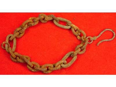 Iron & Brass Chain with Hook