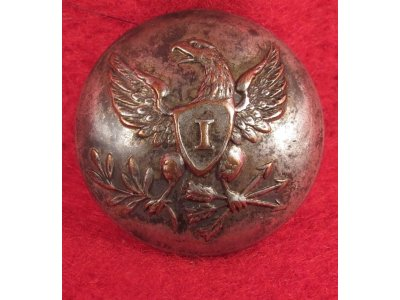 Pre-Civil War Infantry Coat Button - Silvered
