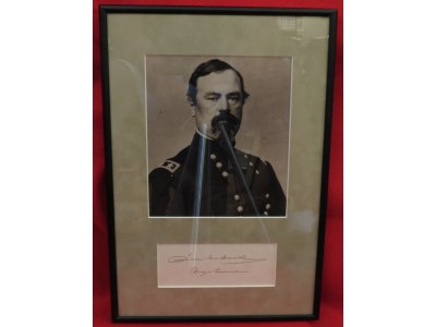 General Irvin McDowell - Framed Image & Signature