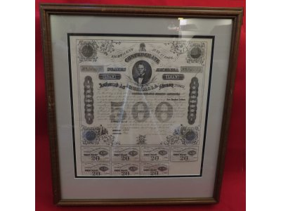 $500 Confederate Treasury Coupon Bond