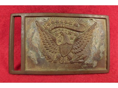 "Federal Officer Sword Belt Buckle - Bench Stamped ""495"""