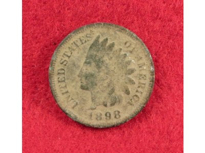 Indian Head Cent Dated 1898