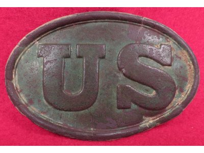 US Cartridge Box Plate - Larger Brass Loops