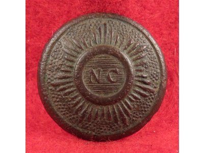 "North Carolina ""Sunburst"" Coat Button"