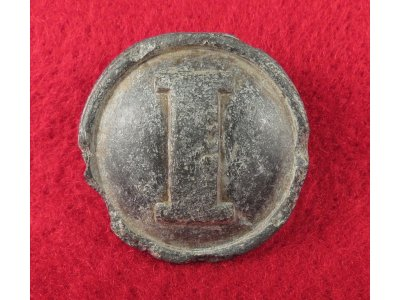 Confederate Infantry Coat Button - Cast White Metal