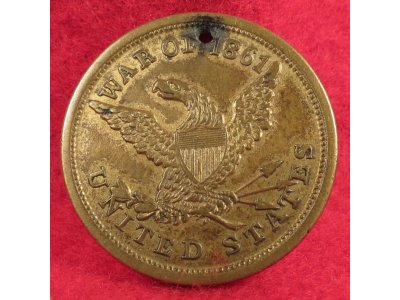 War of 1861 Identification Tag & Records - Private Samuel Rockey