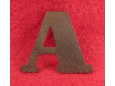"Company Letter ""A"" - Larger Flat Brass Example"