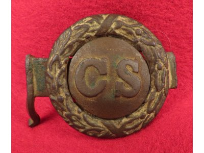 "Confederate ""Virginia Style"" Tongue and Wreath Belt Buckle"
