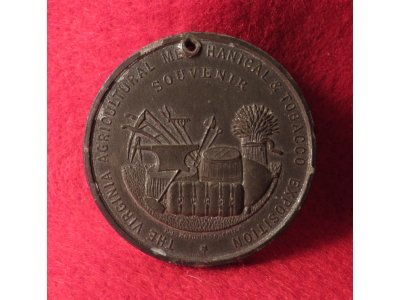(a) Virginia Agricultural, Mechanical & Tobacco Exposition Souvenir Medal - 1888