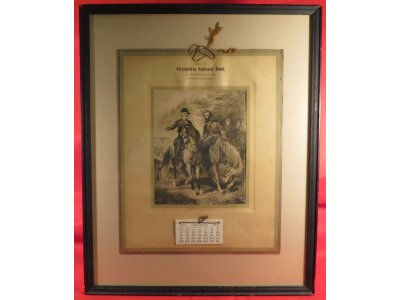 "Framed Alexandria National Bank 1914 Calendar - ""Last Meeting of Lee and Jackson"""