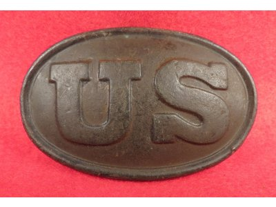 "US Belt Buckle - Carved Initials ""H.C."""