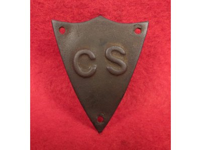 Confederate Saddle Pommel Shield