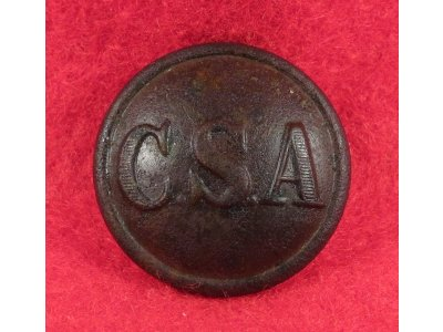 "Confederate Army ""CSA"" General Service Coat Button"
