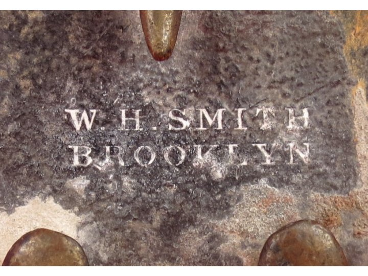 "US Belt Buckle - Ship Wreck Recovery - Marked ""W. H. SMITH BROOKLYN"""