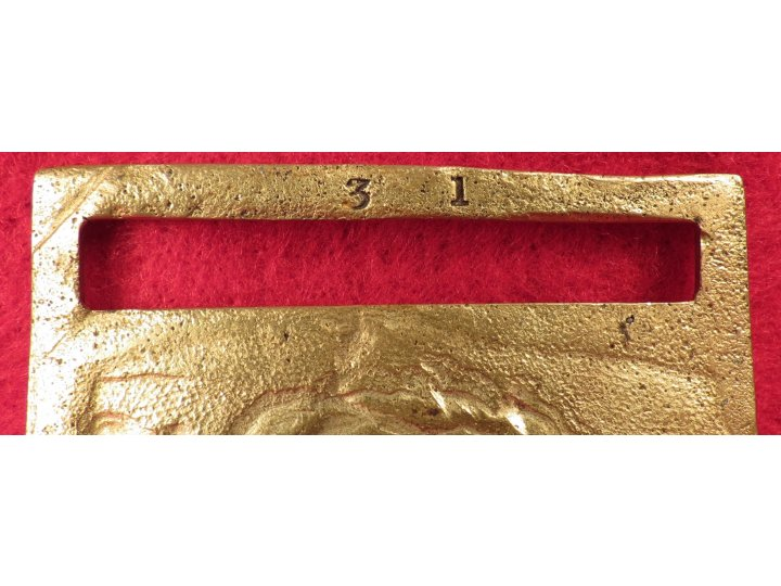 Federal Sword Belt Plate - Officer, ca. 1863 - Gilted