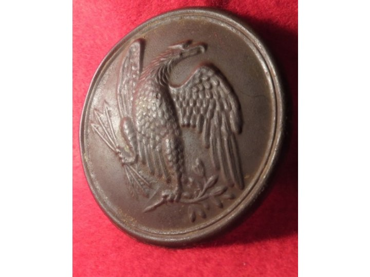 "Eagle Plate with Carved Initials ""JK"""