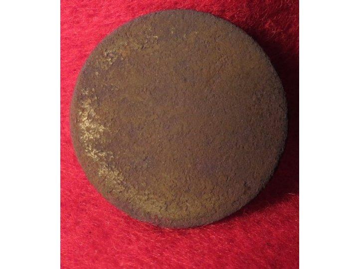 Flat Button - Coat Size -Treble Gilt Standard Colour