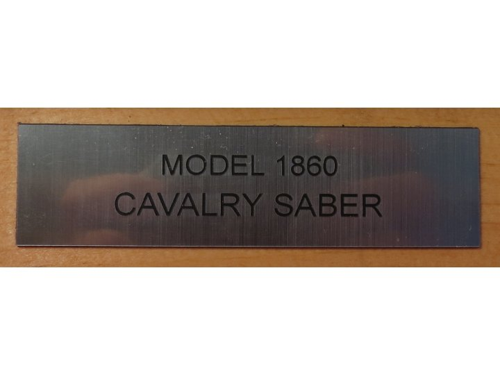 Model 1860 Cavalry Saber & Scabbard - Mounted