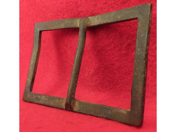 Confederate Forked Tongue Buckle - Frame Only