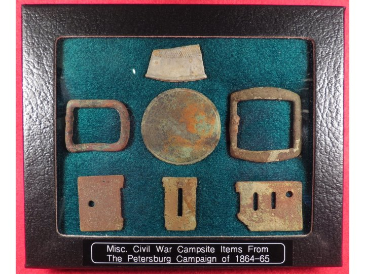Campsite Relic Display - Petersburg Campaign