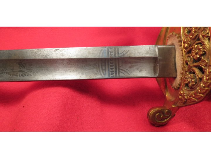 US Model-1850 Foot Officer's Sword and Scabbard