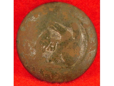 War of 1812 Infantry Officer's Coat Button