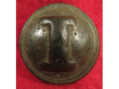 "Confederate Infantry - Cast ""I"" Button"