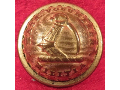Massachusetts State Seal Coat Button