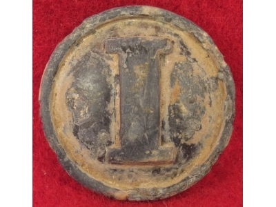 Confederate Pewter Infantry Coat Button