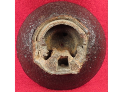 Confederate 12 Pounder Case-Shot Fragment with Bormann Fuze