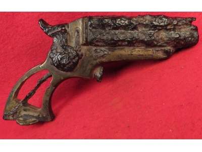 Excavated .32 Caliber Starr Four-Barrel Pepperbox Pistol - Second Model