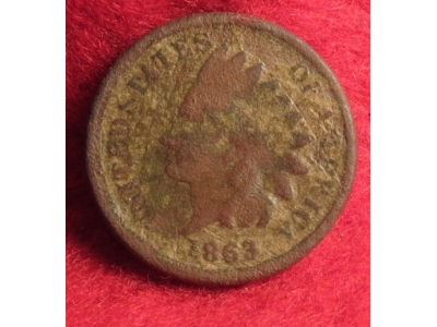 Excavated Indian Head Cent Dated 1863