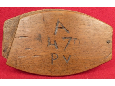 "Soldier's Shaving Mirror - ""A 47t PV"""