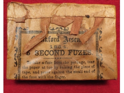 1864 Frankford Arsenal 5 Second Fuze Pack