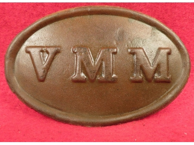 "Volunteer Maine Militia ""VMM"" Cartridge Box Plate"