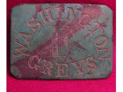 "New York Militia ""Washington Greys"" Co F Waist Belt Plate"