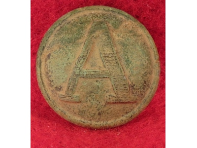 "Confederate Artillery - Lined ""A"" Button"