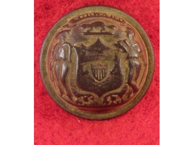 Wisconsin State Seal Coat Button