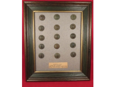 Confederate Infantry Button Display