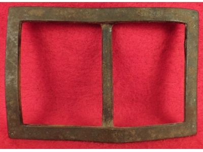 Confederate Forked Tongue Buckle - Frame Only - SALE PENDING