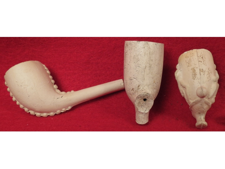 Seven Clay Pipe Bowls