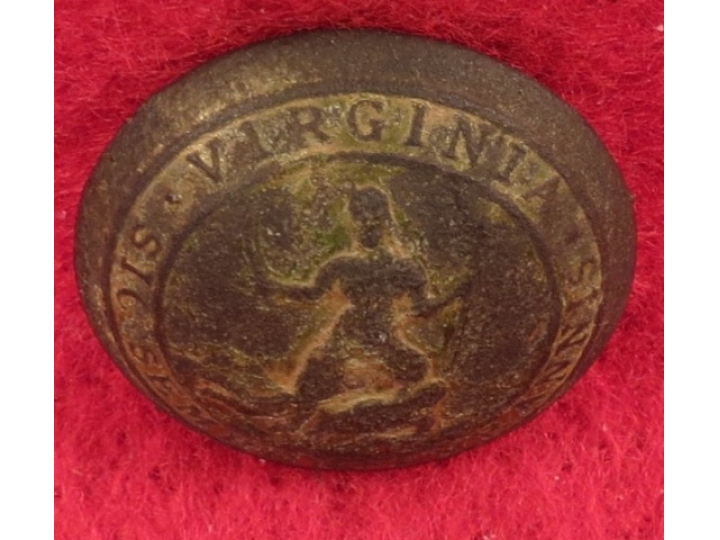 "Pre-Civil War Virginia Militia Coat Button - ""Soup Bowl"""
