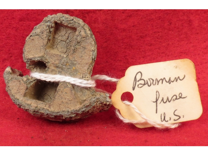 "Partial US Bormann Fuze Portion - Marked ""US"" - Gettysburg"