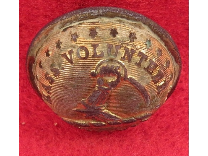 Massachusettes State Seal Coat Button