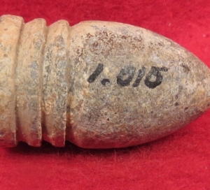 Confederate Side-Cast Bullet with Mac Mason's Lettering